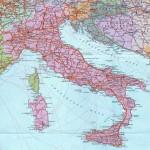Итальянская Республика на политической карте
