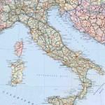 Автомобильные дороги Италии на дорожной карте