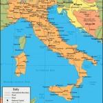 Карта Республики Италия политическая
