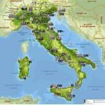 Достопримечательности и города Италии на карте
