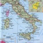 Итальянская республика – политическая карта на русском