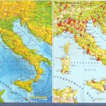Карты Италии – экономическая и физическая