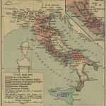 Историческая карта Италии в 1050 году