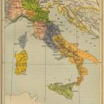 Италия в 1799 году – историческая карта на английском